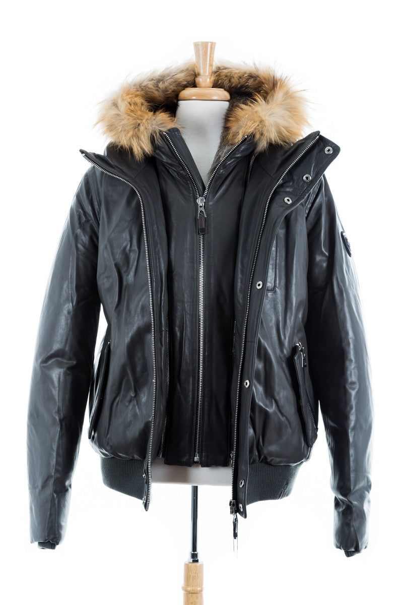 a204cac739 Crawley Leather Jacket With Fur Hood