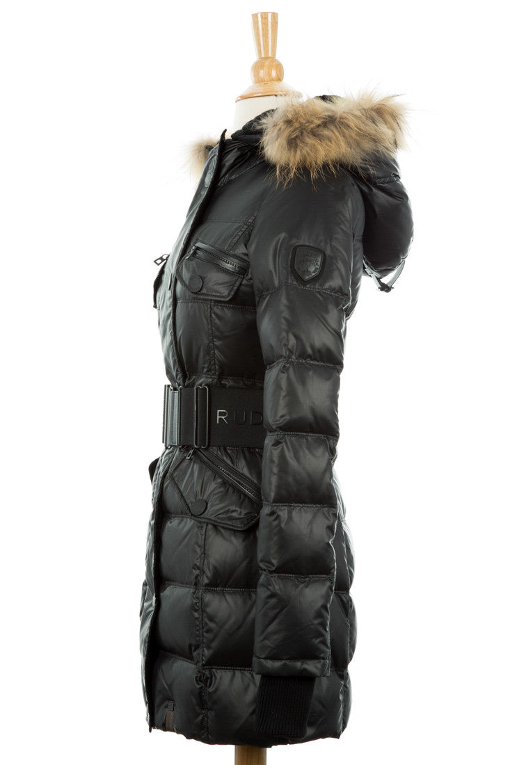 Gloria Puffer Coat With Fur Trim - Dejavu NYC
