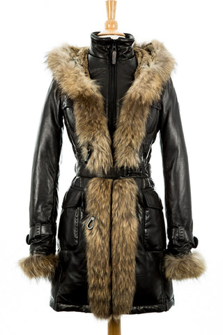 Rita Down Coat With Fur Hood