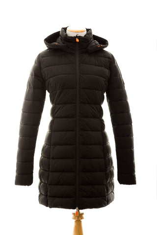 Save the Duck Women's SOLD9 Hooded Coat with Faux Fur Lining