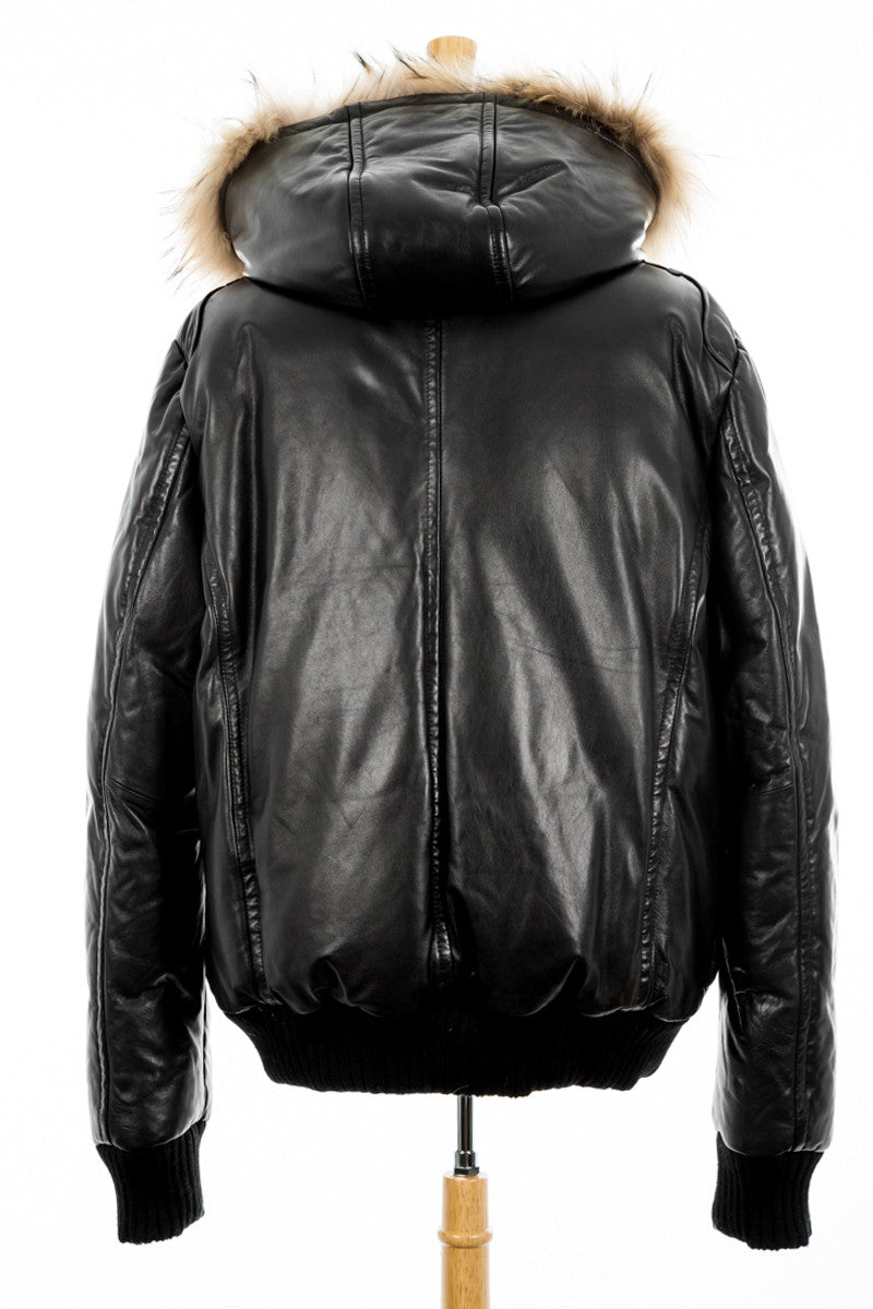 Gall Leather Bomber Jacket - Dejavu NYC