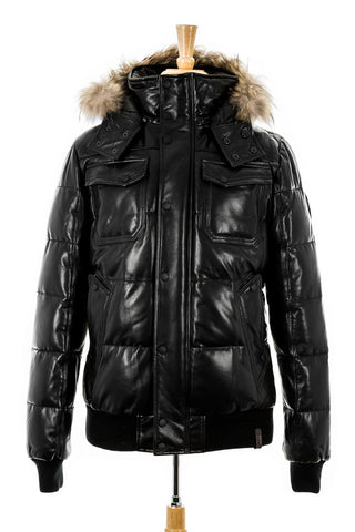 Viper Leather Bomber Jacket With Fur Trim - Dejavu NYC
