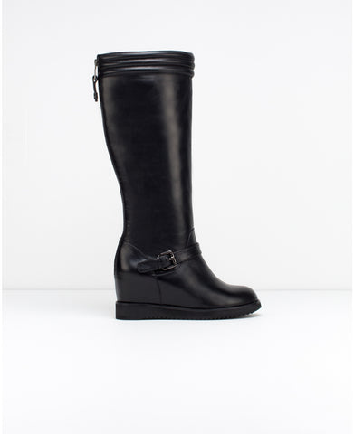 Babylon Wedge Heel Mid Boot - Dejavu NYC
