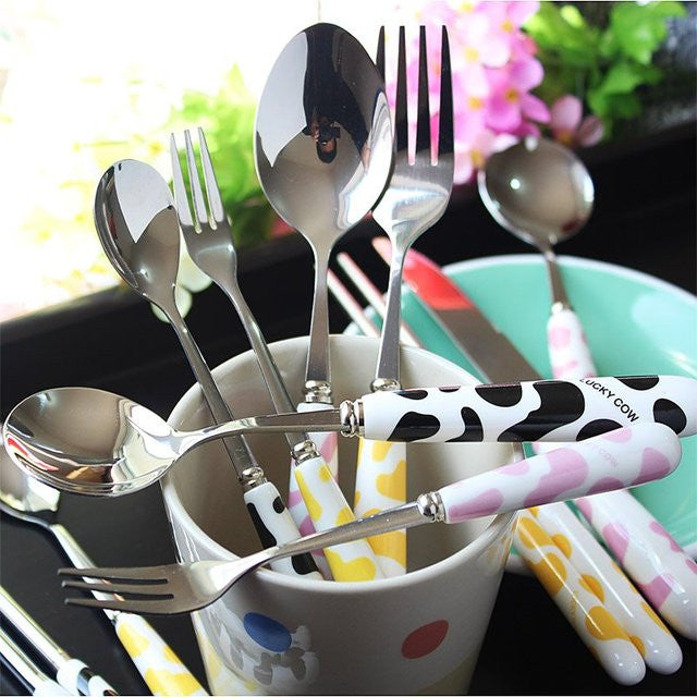 Cute Cow Stainless Steel Cutlery - Feedfend - fistcase