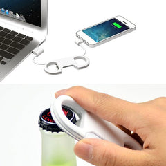 Bottle Opener Lightning  Micro USB Cable