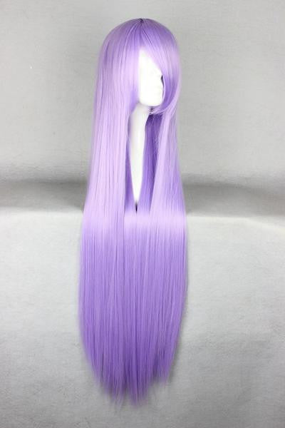 W-17-bc34 VIOLA PURPLE 60cm Cosplay Parrucca Wig Perruque CAPELLI HAIR ANIME MANGA