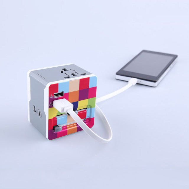 Global Adapter with 2 USB Ports - Feedfend