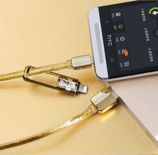 Golden Noodle Two in One Cable