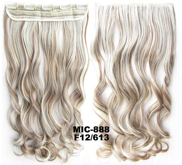 Bath & Beauty 5 Clip in synthetic hair extension hairpieces wavy slice curly hairpiece MIC-888 F12/613,Hair Care,fashion Cosplay ombre 1PC - Feedfend - fistcase