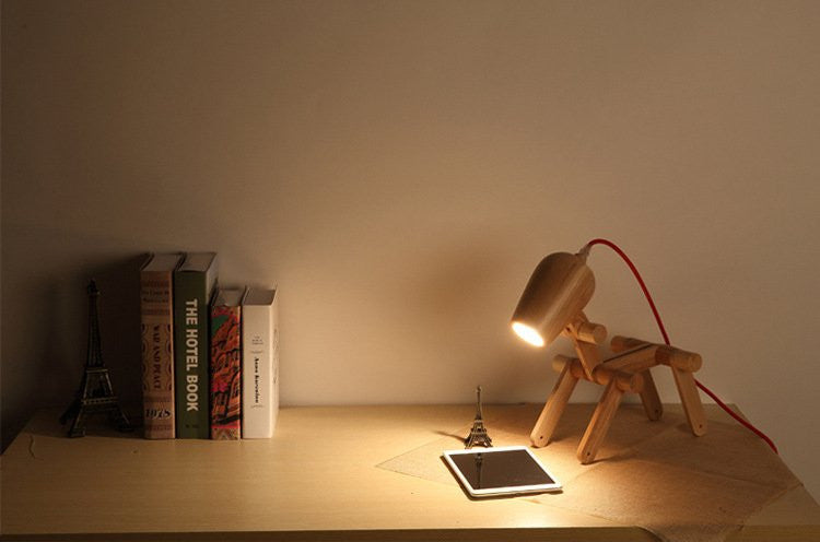 Dog Shaped Wood Lamp - Feedfend