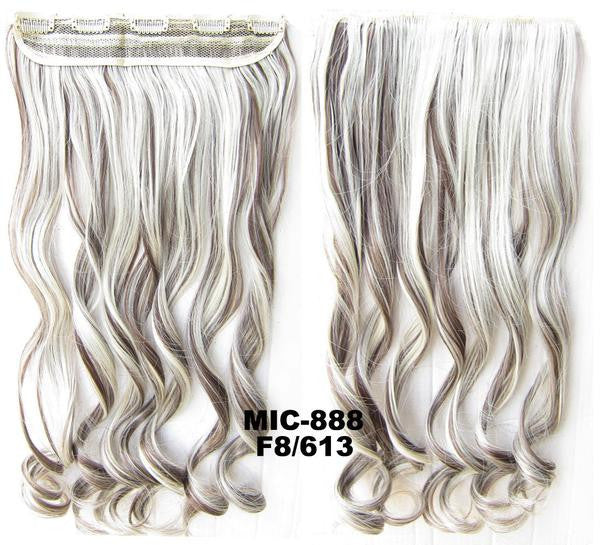 Bath & Beauty 5 Clip in synthetic hair extension hairpieces wavy slice curly hairpiece MIC-888 F8/613,Hair Care,fashion Cosplay ombre 1PC - Feedfend - fistcase