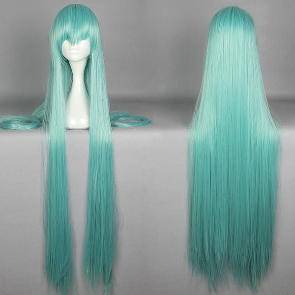120cm Straight Blue Cosplay Wig Anime Wigs