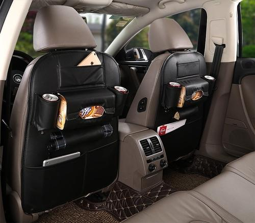 Leather Car Seat Back Organizer