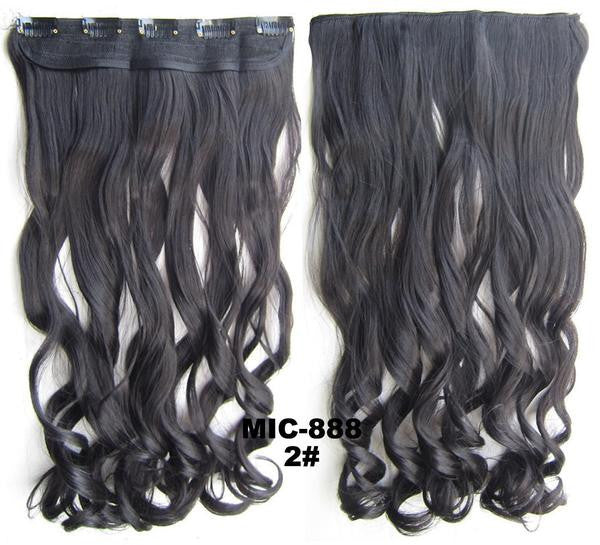 Bath & Beauty 5 Clip in synthetic hair extension hairpieces wavy slice curly hairpiece MIC-888 2#,Hair Care,fashion Cosplay ombre 1PC - Feedfend
