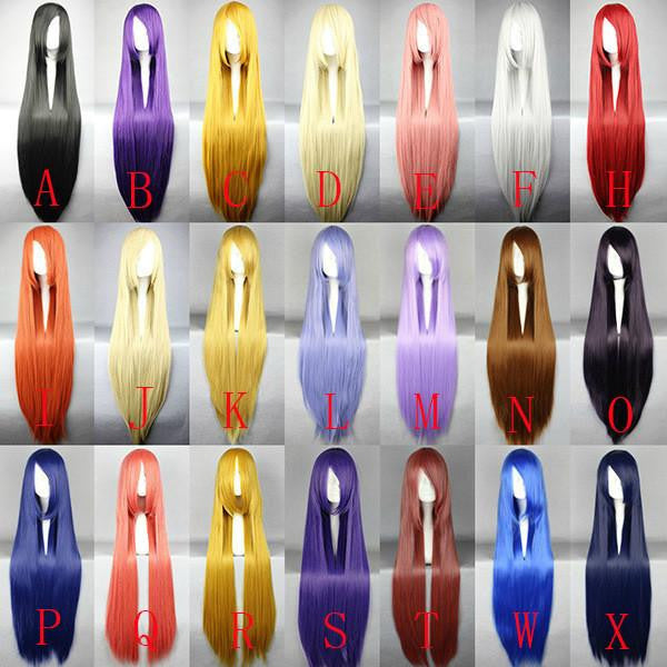 Colorful Candy Silk Cosplay Anime Wig