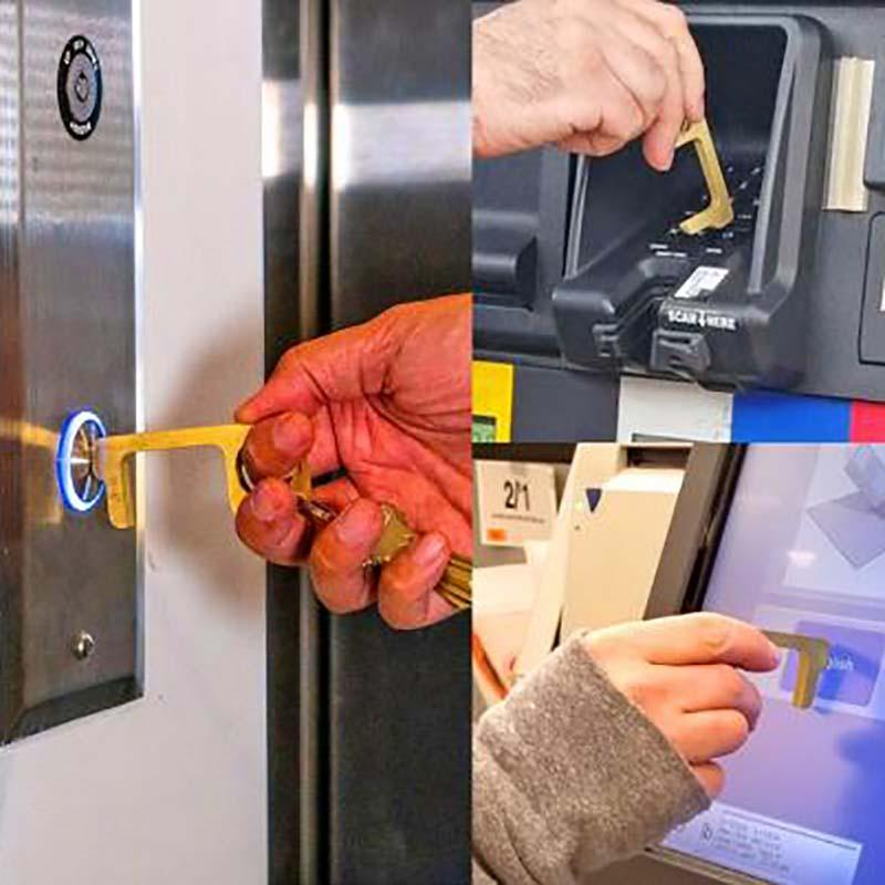 Hygiene Hand Is An Antimicrobial Brass Door Opener - Feedfend
