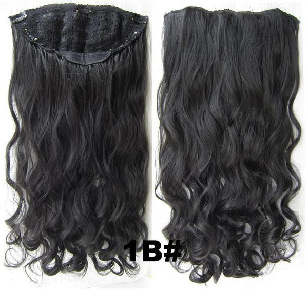 Bath & Beauty 7 Clip in Elastic Cap Wig Curly hair synthetic hair extension hairpieces wavy slice curly hairpiece SCH-888 1B#,Hair Care,fashion Cosplay ombre 1PC