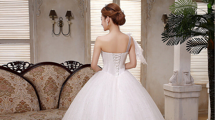 New Princess Wedding dress Shoulder Wedding dress Wedding Bridal White Wedding dress - Feedfend