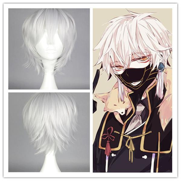 POP New Arrival Custom Made High Quality Touken Ranbu ONLINE Nakigitsune Cosplay Wig hair wig,Colorful Candy Colored synthetic Hair Extension Hair piece 1pcs WIG-579F - Feedfend