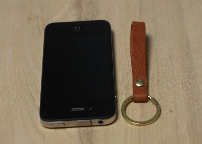 Handcrafted Leather Keychain - Feedfend