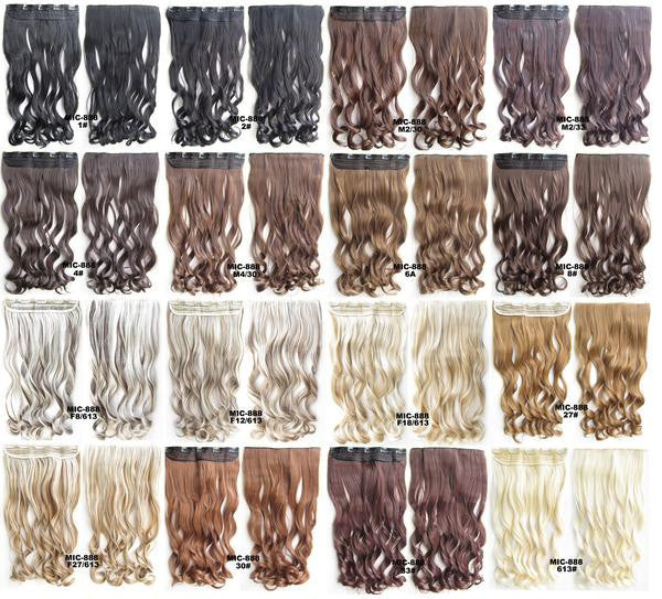 Bath & Beauty 5 Clip in synthetic hair extension hairpieces wavy slice curly hairpiece MIC-888 613#,Hair Care,fashion Cosplay ombre 1PC - Feedfend - fistcase