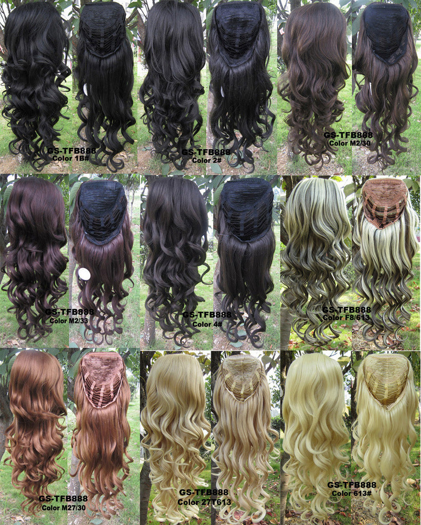 3/4 Half Wigs Hair Extensions High Resistance Synthetic Fibre - Feedfend