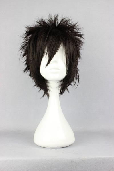30cm new arrival Hitman Reborn Gokudera Hayato ladies short black wig cosplay anime wig,Colorful Candy Colored synthetic Hair Extension Hair piece 1pcs WIG-239A - Feedfend - fistcase