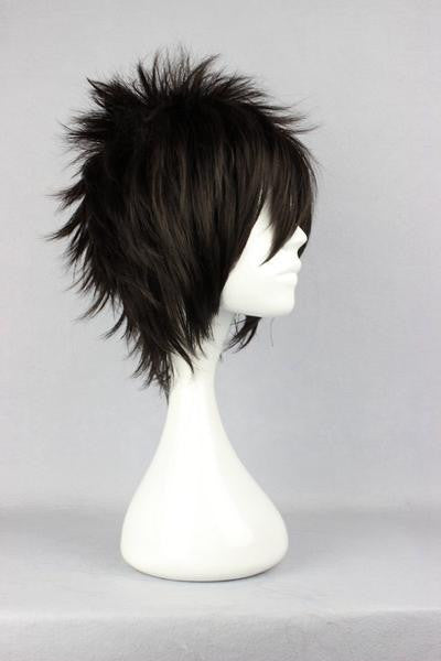 30cm new arrival Hitman Reborn Gokudera Hayato ladies short black wig cosplay anime wig,Colorful Candy Colored synthetic Hair Extension Hair piece 1pcs WIG-239A