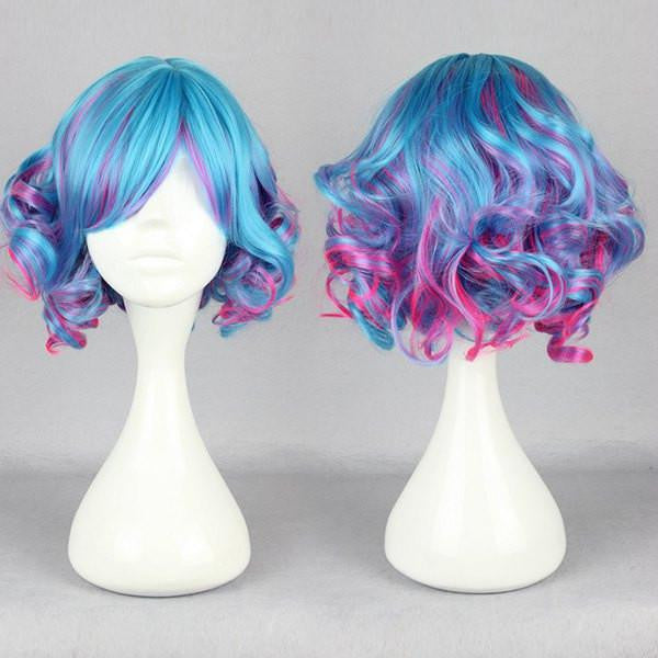 30cm short Cosplay anime wig multi color multi color wig cosplay anime wig,Colorful Candy Colored synthetic Hair Extension Hair piece 1pcs CodeGeass-Nunnally Vi Britannia WIG-476A - Feedfend - fistcase