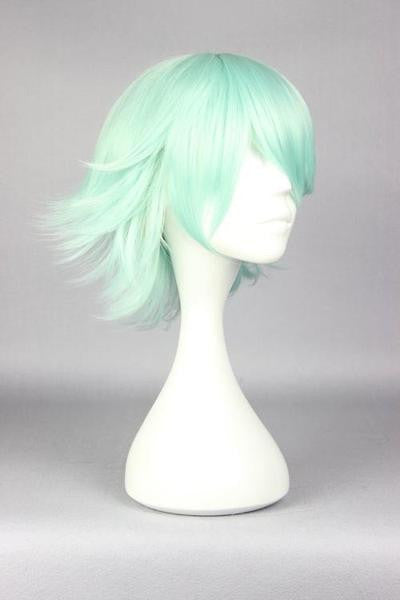 30cm short ice green cosplay wig cheap price online wholesale fashion style Yuri Kuma Arashi-Life Beauty anime cosplay wig,Colorful Candy Colored synthetic Hair Extension Hair piece 1pcs WIG-576F - Feedfend - fistcase
