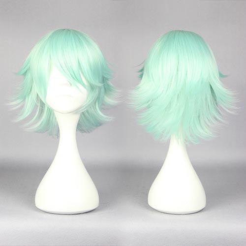 30cm short ice green cosplay wig cheap price online wholesale fashion style Yuri Kuma Arashi-Life Beauty anime cosplay wig,Colorful Candy Colored synthetic Hair