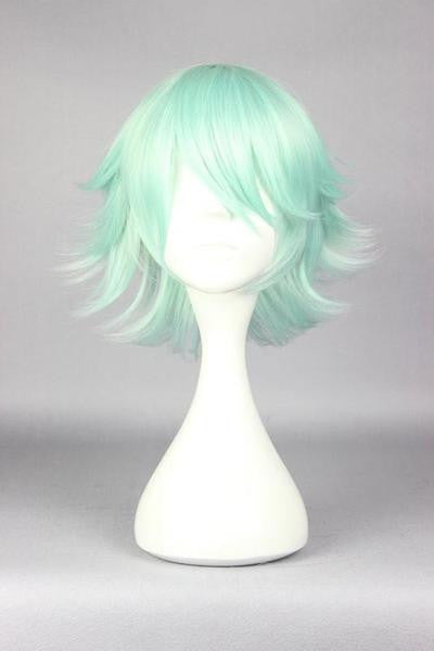 30cm short ice green cosplay wig cheap price online wholesale fashion style Yuri Kuma Arashi-Life Beauty anime cosplay wig,Colorful Candy Colored synthetic Hair Extension Hair piece 1pcs WIG-576F - Feedfend
