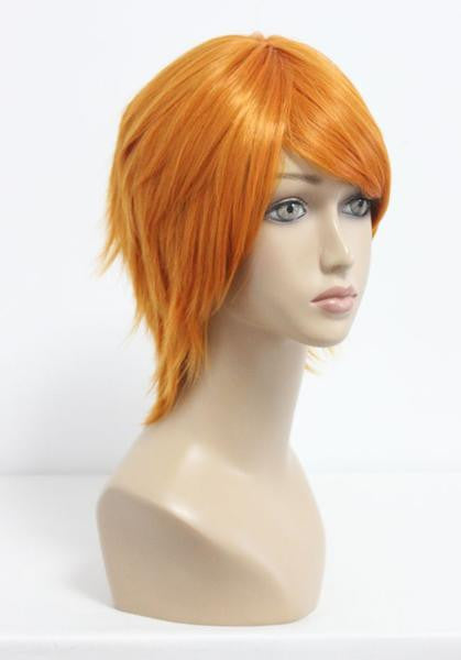 35cm The Prince of Tennis-Wakato Hiroshi high quality Cosplay Anime Short Orange Wig,Colorful Candy Colored synthetic Hair Extension Hair piece 1pc WIG-206A - Feedfend - fistcase