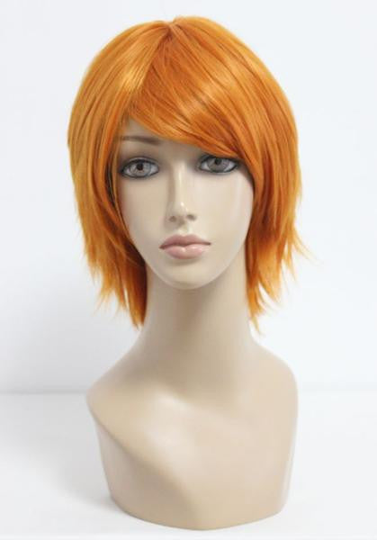 35cm The Prince of Tennis-Wakato Hiroshi high quality Cosplay Anime Short Orange Wig,Colorful Candy Colored synthetic Hair Extension Hair piece 1pc WIG-206A - Feedfend