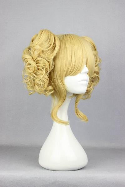 Heat Resistant Curly Light Golden Wig