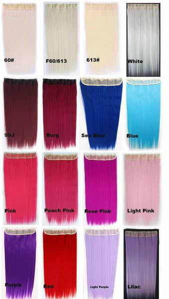 70 Colors candy colors 5 Clip-in Marley Braid Hair European And American Hot Wigs Wholesale Hair Color Piece hairpieces New Fashion Women wig Bath & Beauty Ombre Hair Extensions Colorful Hairpieces GS-666,1PC - Feedfend