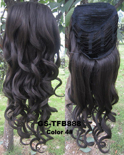 3/4 Half Wigs Hair Extensions High Resistance Synthetic Fibre - Feedfend - fistcase