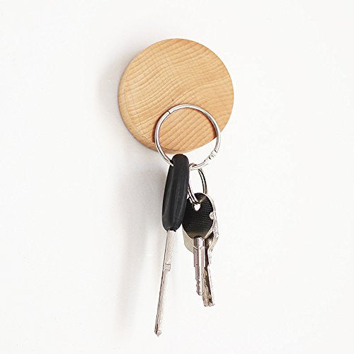 Key Holder (Keys) Wall Mounted Magnetic Wooden Key Holder No Key Hooks Decorative and Sticking Wooden Key Holding Organization - Feedfend - fistcase