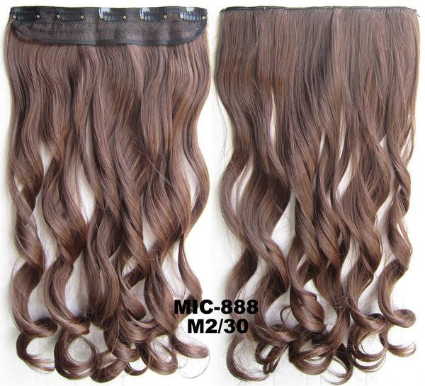 Bath & Beauty 5 Clip in synthetic hair extension hairpieces wavy slice curly hairpiece MIC-888 M2/30,Hair Care,fashion Cosplay ombre 1PC - Feedfend - fistcase