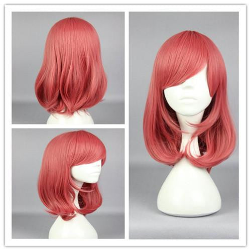 44cm Synthetic Pretty Cosplay Love Live-Nishikino Maki Long Pink Anime Wig,Colorful Candy Colored synthetic Hair Extension Hair piece 1pc WIG-560D - Feedfend - fistcase