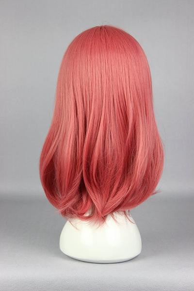 44cm Synthetic Pretty Cosplay Love Live-Nishikino Maki Long Pink Anime Wig,Colorful Candy Colored synthetic Hair Extension Hair piece 1pc WIG-560D - Feedfend