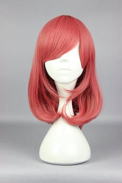 44cm Synthetic Pretty Cosplay Love Live-Nishikino Maki Long Pink Anime Wig,Colorful Candy Colored synthetic Hair Extension Hair piece 1pc WIG-560D
