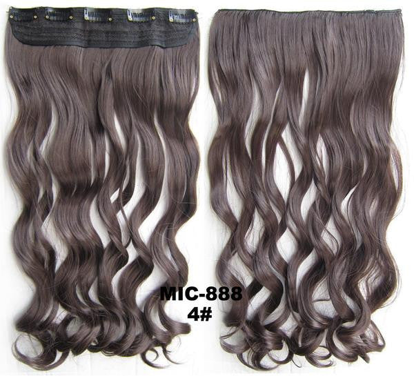 Bath & Beauty 5 Clip in synthetic hair extension hairpieces wavy slice curly hairpiece MIC-888 4#,Hair Care,fashion Cosplay ombre 1PC