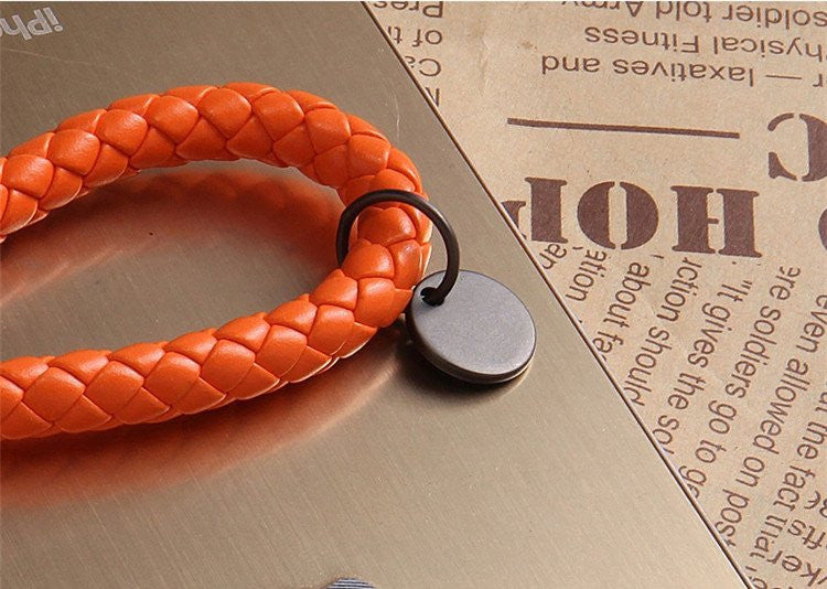 Luxury Braided Leather Keychain - Feedfend