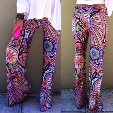 Stylish High Waisted Printed Loose-Fitting Women's Exumas Pants