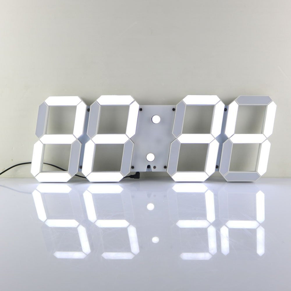 Multi-Functional Remote Control Large LED Digital Wall Clock with Countdown Timer Temperature Date & Modern Design (Black Back Ground) - Feedfend - fistcase