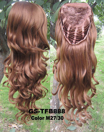3/4 Half Wigs Hair Extensions High Resistance Synthetic Fibre