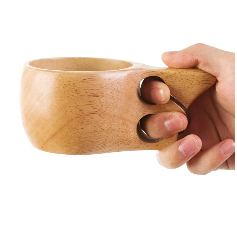 Ergonomic Wooden Coffee Mug - Feedfend