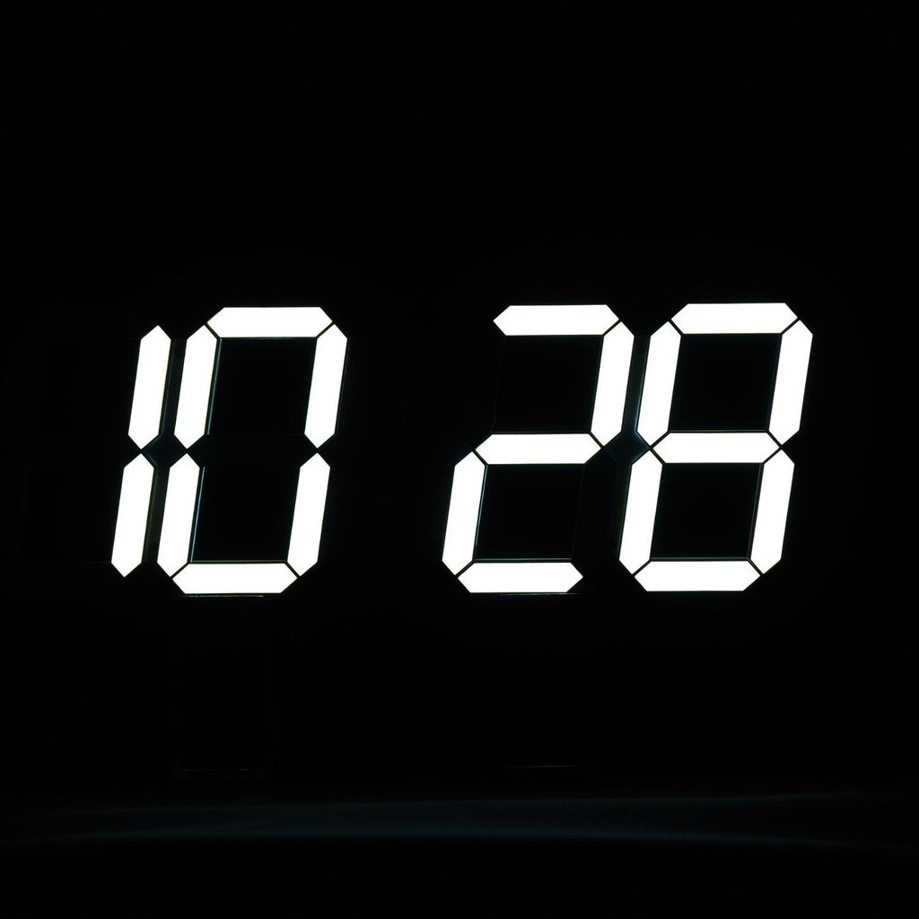 Multi-Functional Remote Control Large LED Digital Wall Clock with Countdown Timer Temperature Date & Modern Design (Black Back Ground) - Feedfend