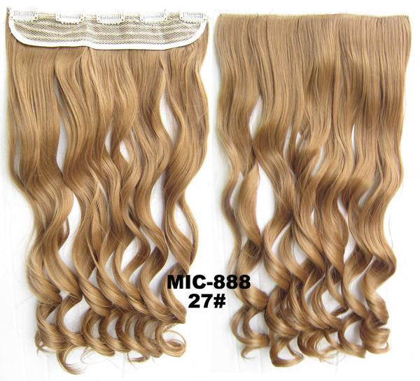 Bath & Beauty 5 Clip in synthetic hair extension hairpieces wavy slice curly hairpiece MIC-888 27#,Hair Care,fashion Cosplay ombre 1PC - Feedfend - fistcase